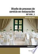 MF1098_3 - Diseño de procesos de servicio en restauración