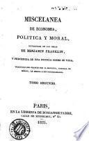 Miscelánea de economia, política y moral
