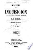 Misterios de la Inquisicion y otras sociedades secretas de España