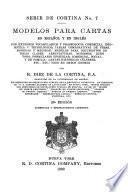 Modelos para cartas en espanol y en ingléscon extensos vocabularios y fraseologia comercial
