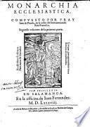 Monarchia Ecclesiastica O Historia Universal del mundo