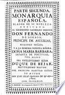 Monarquia española ...