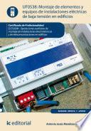 Montaje de elementos y equipos de instalaciones eléctricas de baja tensión en edificios. ELES0208