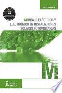 Montaje eléctrico y electrónico en instalaciones solares fotovoltaicas