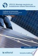 Montaje mecánico en instalaciones solares fotovoltaica. ENAE0108