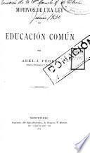 Motivos de una ley de educación común