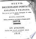 Nouveau dictionnaire de poche françois-espagnol