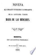 Novena al Corazon purisimo i compasivo de la Santisima Virjen Maria de las Mercedes
