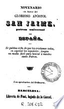Novenario en honor del glorioso apóstol San Jaime patron universal de España