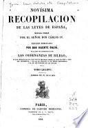 Novísima recopilación de las leyes de España