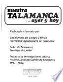 Nuestra Talamanca-- ayer y hoy