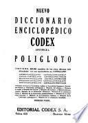 Nuevo diccionario enciclopédico y atlas universal Codex: Apéndice I. Poligloto: Alemán. Inglés. 7. ed