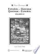 Nuevo diccionario, español-quechua--quechua-español: Quechua-español, A-N