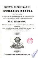 Nuevo diccionario geográfico manual