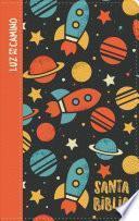 NVI Biblia Luz En Mi Camino Cohetes, Multicolor Símil Piel