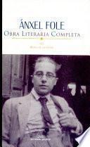 Obra literaria completa: Obra en castelán
