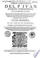 Obras christianas [en romance]... cor. y emmendadas en esta ultima impression