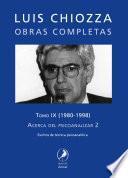 Obras completas de Luis Chiozza. Tomo IX