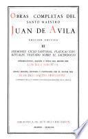 Obras completas del santo maestro Juan de Avila