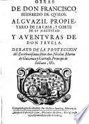 Obras de don Francisco Bernardo de Quiros ... y aventuras de don Fruela