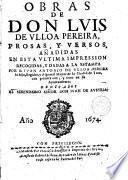 Obras de Don --- prosas y versos...