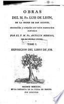 Obras del M. Fr. Luis de Leon de la orden de San Austin