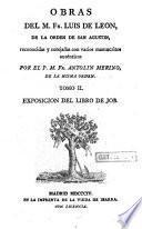 Obras del M. Fr. Luis de Leon...: Exosicion del libro de Job. 1804