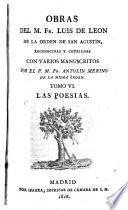 Obras del M. Fr. Luis de Leon ...: Las poesias. 1816