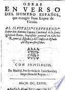 Obras en verso del Homero Español [i.e. L. de Gongora], que recogio Juan Lopez de Vicuña, etc