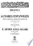 Obras escogidas de D. Antonio Alcalá Galiano