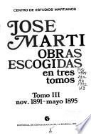 Obras escogidas en tres tomos: noviembre 1891-mayo 1895