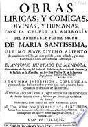 Obras liricas y comicas y humanas, con la... Ambrosio del...