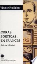 Obras poéticas en francés