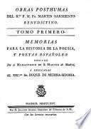 Obras posthumas del r.mo p. m. fr. Martin Sarmiento, benedictino