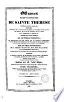 Oeuvres tres-completes de Sainte Therese