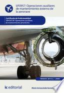Operaciones auxiliares de mantenimiento externo de la aeronave. TMVO0109