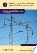Operaciones de montaje de apoyos en redes electricas aereas. ELEE0108