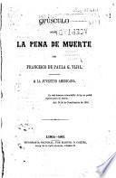 Opúsculo sobre la pena de muerte