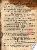 Oración fúnebre que en las exequias ... del Excmo. P. Fr. Pablo de Colindres ... dixo el P. Fr. Casimiro Fernandez de Sevilla ...