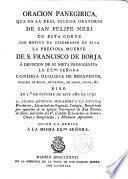 Oración panegirica ... de San Frco de Borja ...