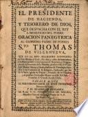 Oración panegyrica al Glo. Padre de los pobres, Sto. Thomas de Villanueva ...