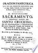 Oración panegyrica que en los festivos obsequios,que el muy ilustre Cabildo de Canónigos de la S. Iglesia catedral de Vich, ...