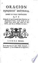 Oracion panejirico doctrinal sobre la mala tentacion que compuso el senor Mordojai de Abraham de Soria