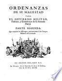 Ordenanzas de S.M. para el gobierno militar político y económico de su Armada naval