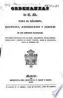 Ordenanzas de S. M. para el régimen, disciplina, subordinacion y servicio de los ejércitos nacionales. [22 Oct. 1778.] Nuevamente adicionadas con las leyes ... vigentes, desde su publicacion, hasta el presente año