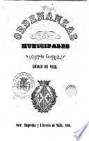 Ordenanzas municipales de la ciudad de Vich