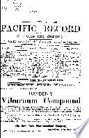 Pacific Record of Medicine and Surgery