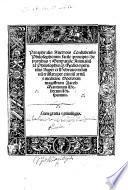 Paraphrasis Auerrois Cordubensis philosophorum facile: principis: de partibus & generatione animalium ... Nuper ex Hebraico in latinum translata per eximium ... Iacob Mantinum hebreum Hispanum