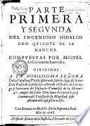 Parte primera y segvnda del ingenioso hidalgo don Qvixote de la Mancha