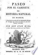 Paseo por el gabinette de historia natural de Madrid